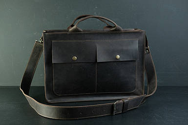 Шкіряна чоловіча сумка Дієго, натуральна Вінтажна шкіра колір коричневый, оттенок Шоколад