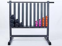 Подставка под гантели для фитнеса на 80шт RK2506L (металл, р-р 107х68х105см), фото 1