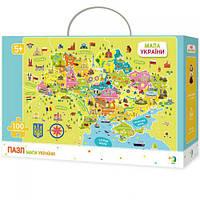 Пазлы  Карта Украины , 100 элементов