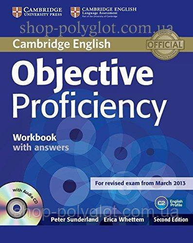 Рабочая тетрадь Objective Proficiency Second Edition Workbook with answers and Audio CD