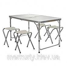 Стол для пикника Folding Table с 4 стульями складной туристический в чемодане