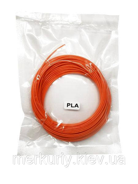 Нить PLA пластика для 3Д ручки 10м, стержень для 3D ручки оранжевый