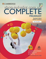Набор книг Complete Preliminary Second Edition Student's Pack (Student's Book without Answers with Online Workbook, Workbook without Answers with