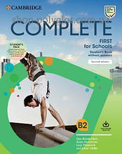 Учебник Complete First for Schools Second Edition Student's Pack (Student's Book without Answers with Online Practice, Workbook without Answers with