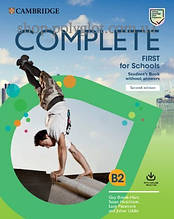 Учебник Complete First for Schools Second Edition Student's Book without Answers with Online Practice