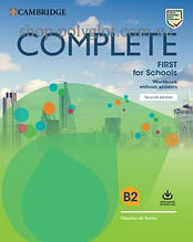Рабочая тетрадь Complete First for Schools Second Edition Workbook without Answers with Audio Download