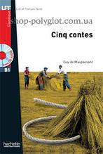 Книга с диском Cinq contes avec CD audio