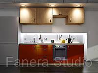 Готовий комплект кухні, висота 2.4 м, низ 2.4 м з фасадами ЛДСП/МДФ, фото 4