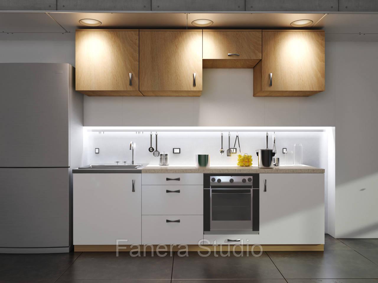 Готовий комплект кухні, висота 2.4 м, низ 2.4 м з фасадами ЛДСП/МДФ