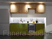 Готовий комплект кухні, висота 2.4 м, низ 2.4 м з фасадами ЛДСП/МДФ, фото 5