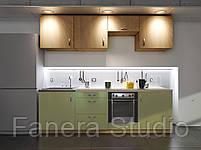 Готовий комплект кухні, висота 2.4 м, низ 2.4 м з фасадами ЛДСП/МДФ, фото 3