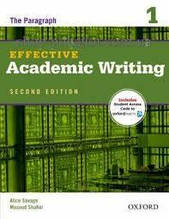 Книга Effective Academic Writing Second Edition 1 — The Paragraph with Student Online Access Code