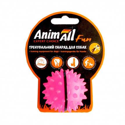 Игрушка AnimAll Fun мяч каштан для собак, 5 см, коралловая, фото 2