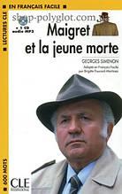 Книга с диском Maigret et la jeune morte avec CD audio