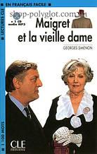 Книга с диском Maigret et la vieille dame avec CD audio