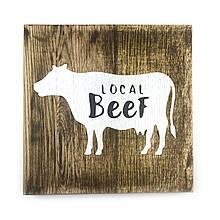 """Деревянная картина """"Local Beef"""" 25 25 см"""