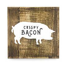 "Деревянная картина ""Crispy Bacon"" 25 25 см"