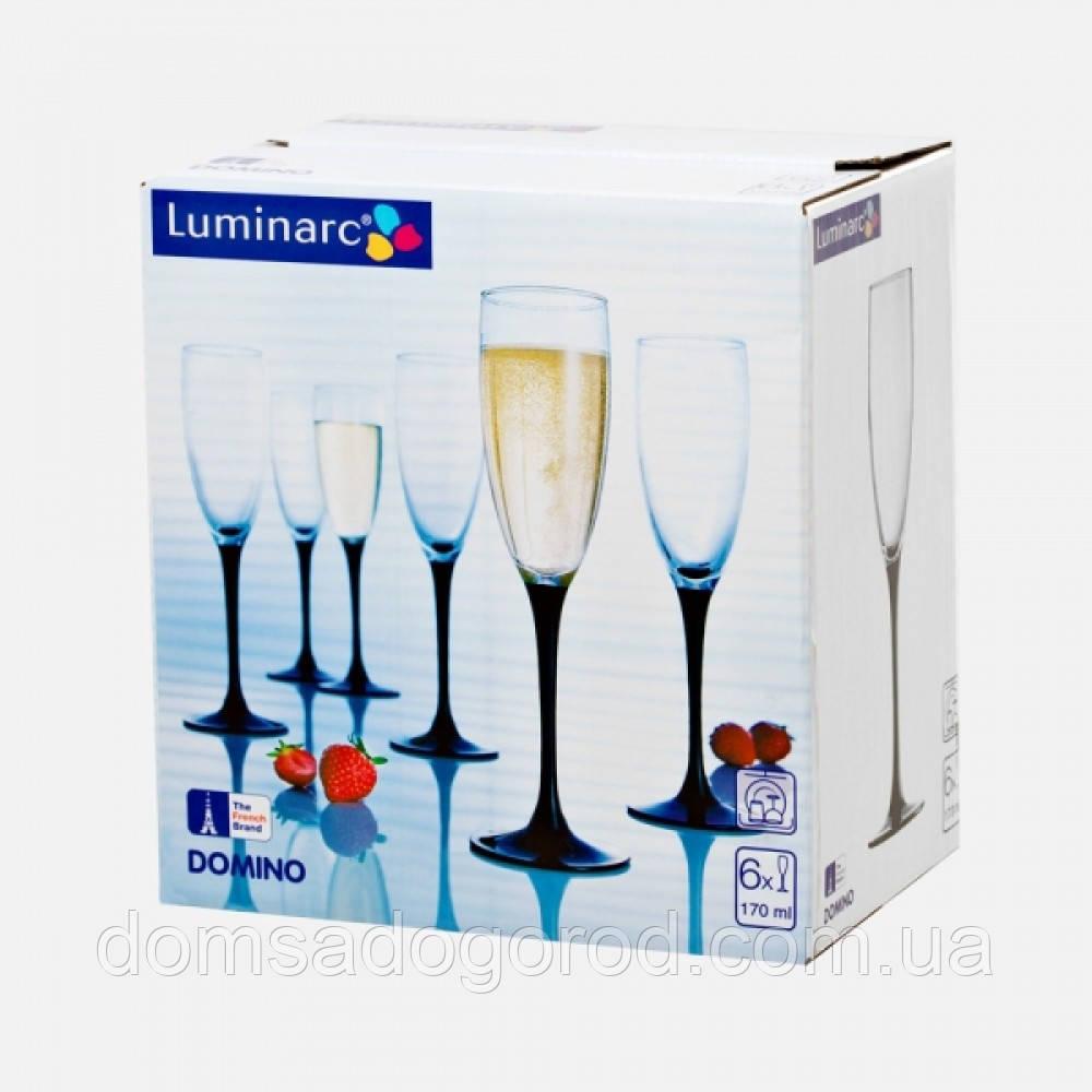 Бокалы для шампанского Luminarc DOMINO H8167 (набор.)  6 шт. 170 мл