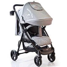 Детская прогулочная коляска книжка  Quattro Porte QP-234 Grey