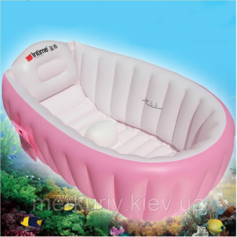 Надувна ванночка Intime Baby Bath Tub рожева