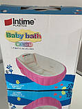 Надувна ванночка Intime Baby Bath Tub рожева, фото 3