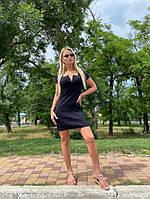Платье которое облегающее, Платье черное короткое приталенное,  Красивое короткое черное платье,  Платье мерное мини женское., фото 3