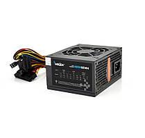 Блок живлення Merlion 400W 8cm Black + кабель живлення, 10шт в коробці, ОЕМ