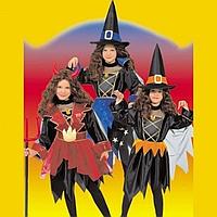 Детский карнавальный костюм Ведьмочка, Чертенок, Колдунья