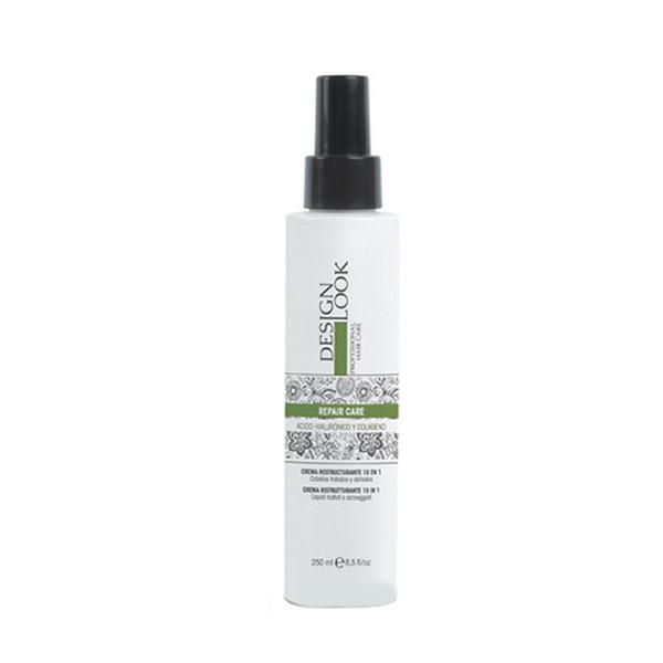 Реструктурирующий крем-спрей 10 в 1 c колагеном для пошкодженого волосся Design Look Repair Care 250 мл