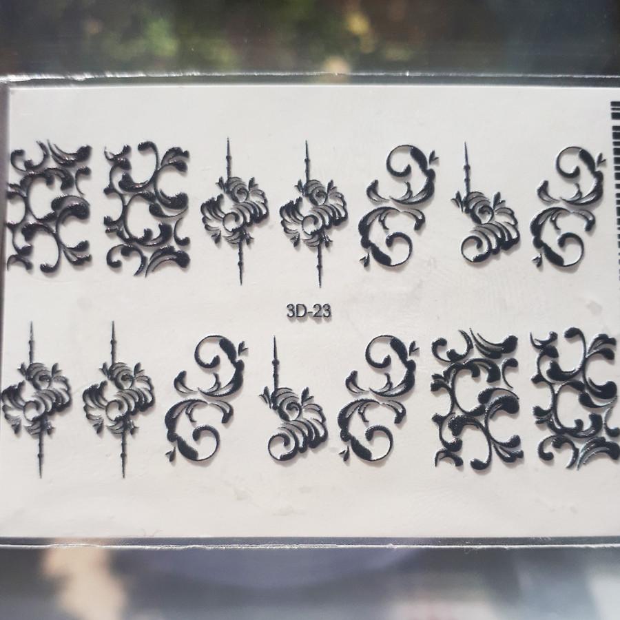 Слайдер-дизайн 3D 023 черные вензеля