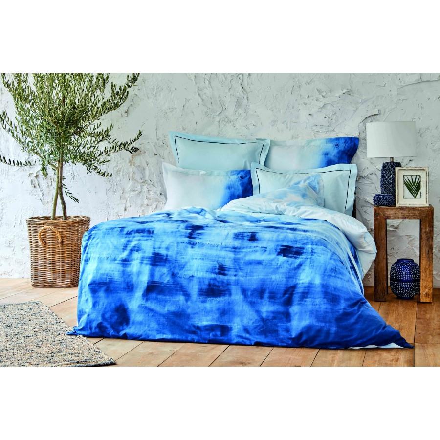 Постельное белье Karaca Home ранфорс - Batis mavi 2020-2 голубой евро