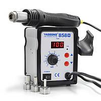 Паяльная станция Yaogong 858D термофен для пайки 700W пайка SMD, BGA, QFP, металлический корпус