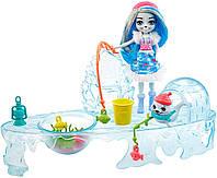 Enchantimals Fishing Friends Sashay Seal Энчантималс набор зимняя рыбалка кукла Тюлень Енчантімалс, фото 1