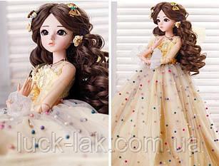 Шарнирная кукла BJD Эмма рост 60 см, 1 /3, коричневый цвет волос + одежда и обувь в подарок