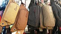 Спортивные сумки бананки на пояс Sport джинс (5 цветоа)16*36см