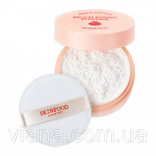 Рассыпчатая мультифинишная пудра  SKINFOOD Peach Cotton Multi Finish Powder 5 грамм (мини-формат)