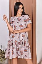 """Свободное асимметричное платье """"ЦВЕТОЧЕК"""" с вырезом на спине (большие размеры), фото 3"""