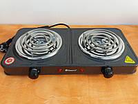 Плита электрическая Domotec MS-5802 двухконфорочная спиральная
