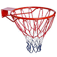 Кольцо баскетбольное Basketball Ring металлическое 45 см с сеткой (S-R2)