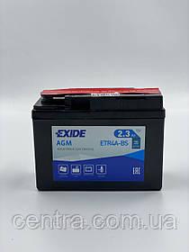 Мото аккумулятор EXIDE ETR4A-BS 2.3Ah