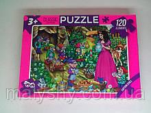 Пазлы 120 элементов PUZZLE / Белоснежка в саду