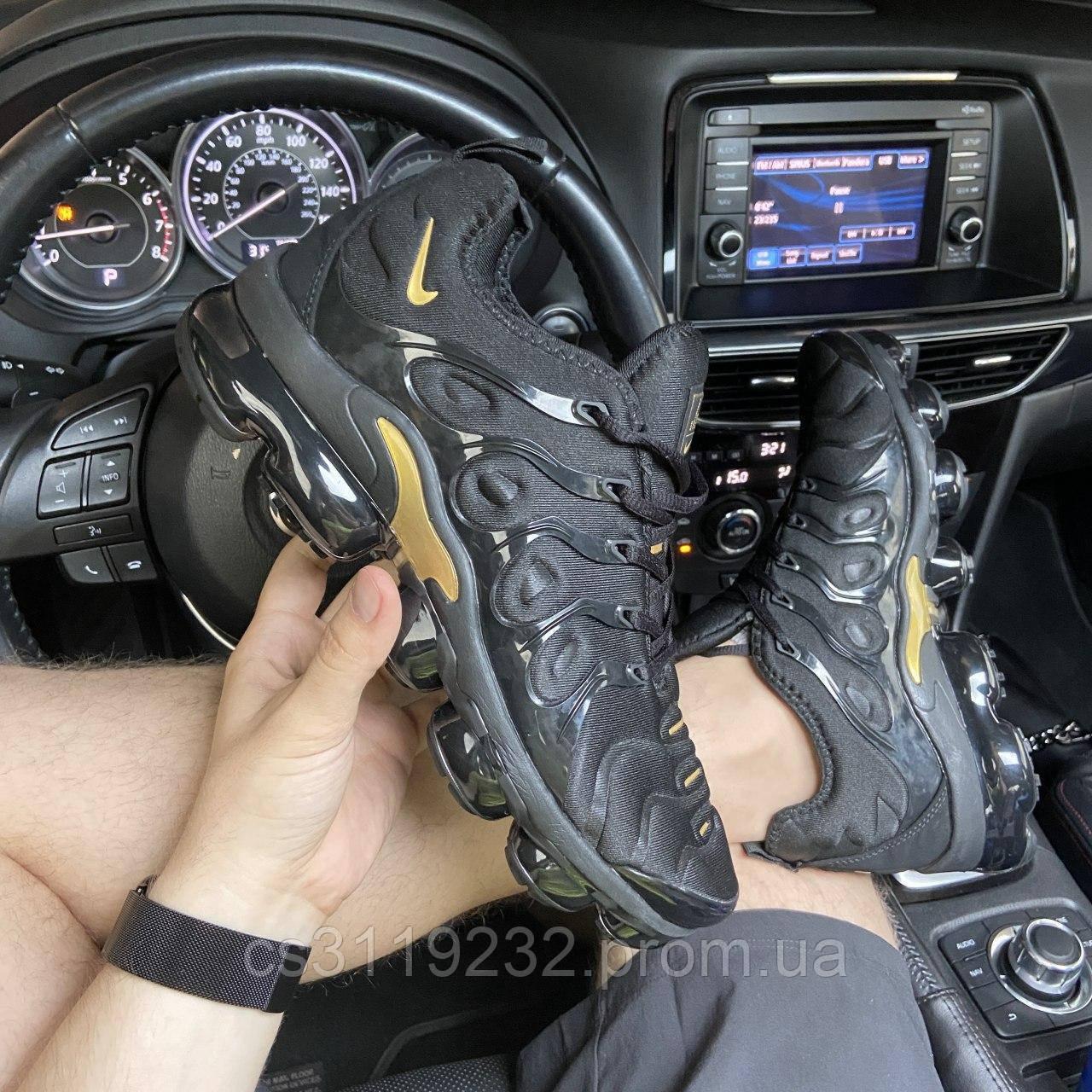 Мужские кроссовки Nike VaporMax TN Plus Black Gold (черный)