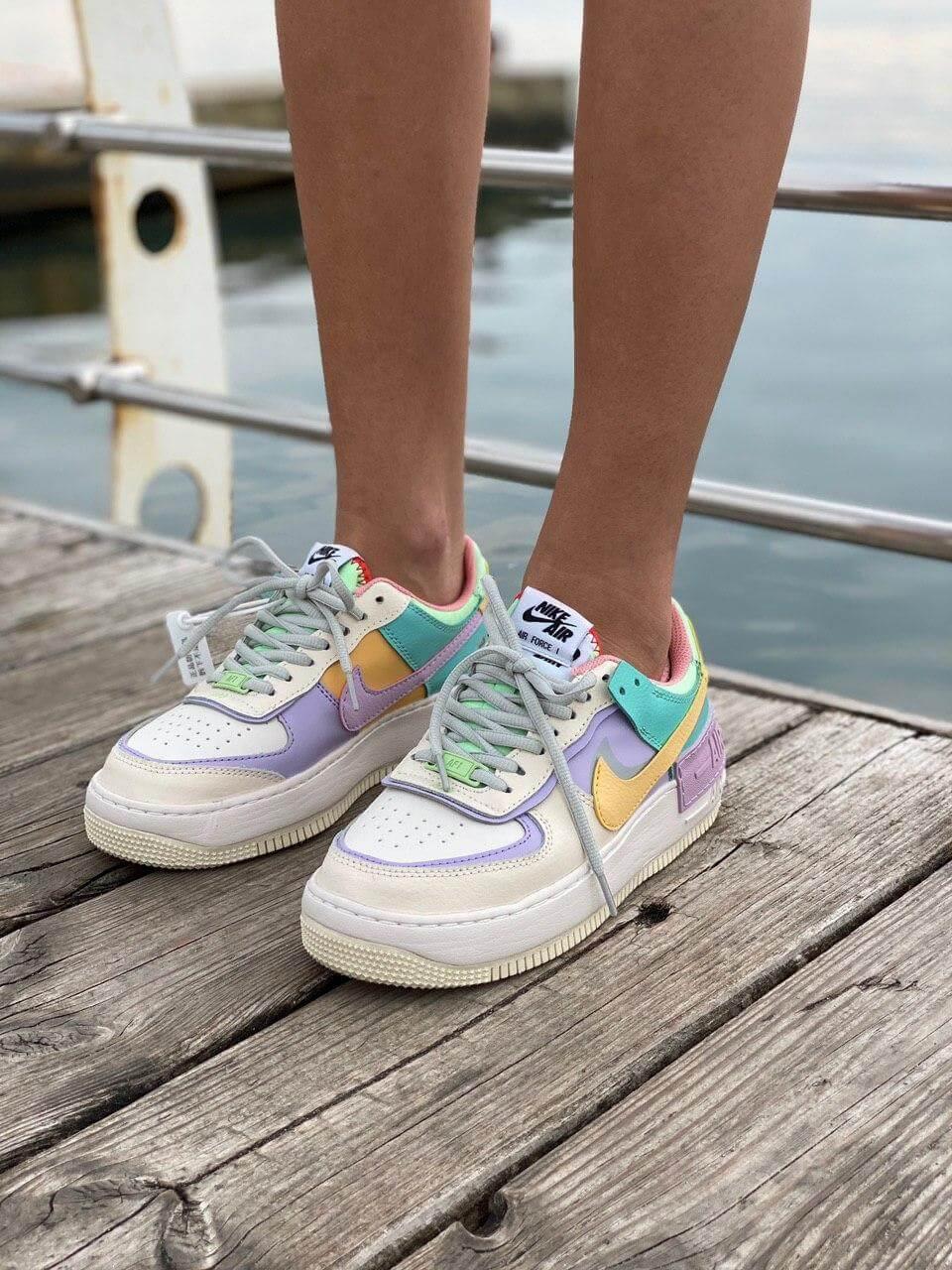 Женские кроссовки Nike Air Force 1 Shadow Pastel (низкие Найк Аир Форс пастельные)