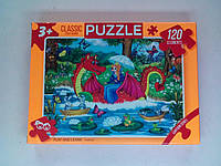 Пазлы 120 элементов PUZZLE / Принцесса на драконе