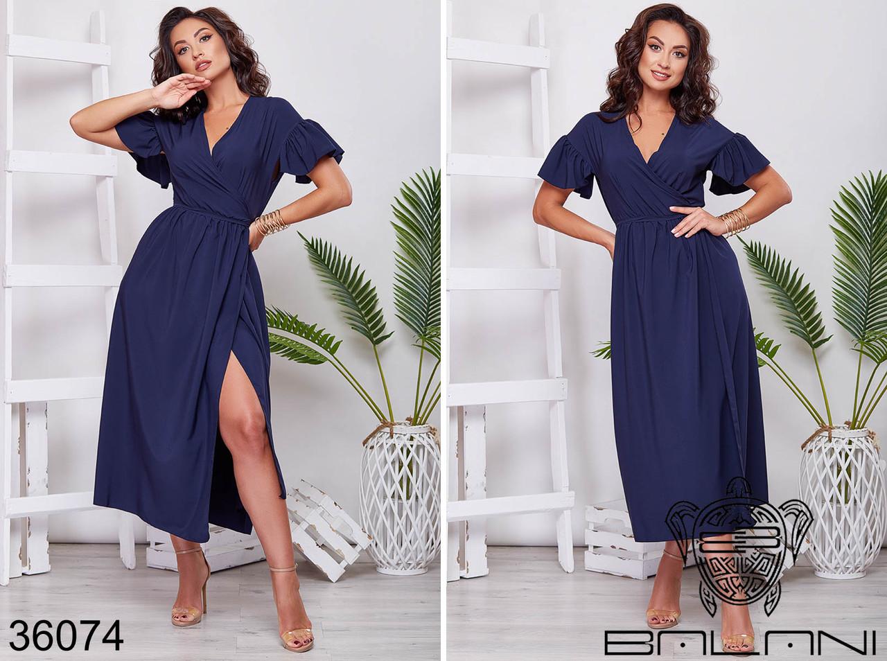 Летнее женское платье на запах  батал р.48-64  Balani XL