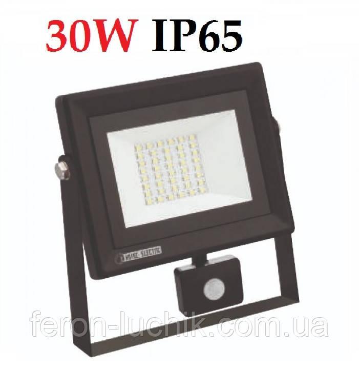 Светодиодный прожектор c датчиком 30W 2400Lm IP65 6400K PARS Horoz Electric