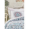 Постельное белье Karaca Home ранфорс - Mai lacivert 2020-2 синий евро, фото 3