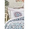 Постільна білизна Karaca Home ранфорс - Mai lacivert 2020-2 синій євро, фото 3