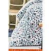 Постільна білизна Karaca Home ранфорс - Mai lacivert 2020-2 синій євро, фото 2