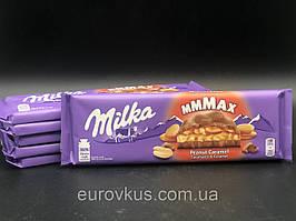 Альпийский шоколад Milka Peanut Caramel  с арахисом и карамелью 276г
